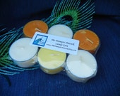 candy corn scented soy tea light candles 6 pack  orange yellow white