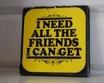 Vintage Book, I Need All the Friends I Can Get, Charlie Brown