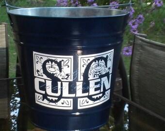 Galvanized Backyard Monogram Bucket