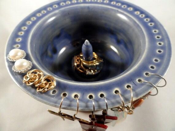 Jewelry Holder...Rings, Earrings, Bracelets....Cobalt Blue Translucent