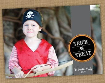 Halloween Photo Card. Tick or Treat