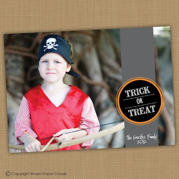 Halloween Photo Card. Tick or Treat