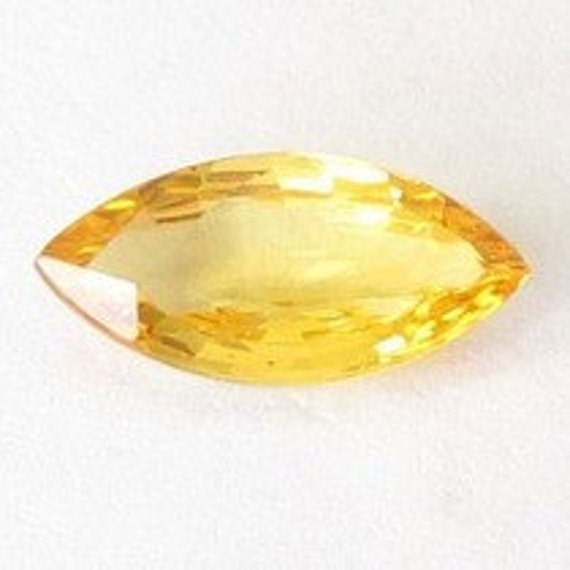 Genuine Yellow Sapphire, Africa,  Marquise 11.8x5.7x3.1 mm, 1.71carat