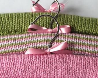 Covered Hangers - Baby or Child - Pink and Green