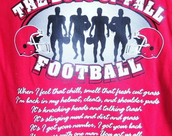 The Boys of Fall Football T-Shirt in Youth Sizes XS -XL Available in Most Team Colors