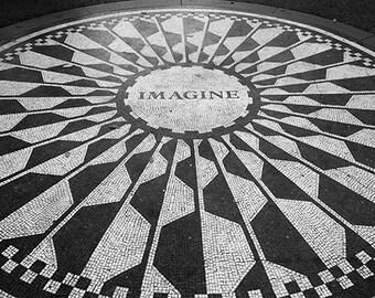 Imagine photo, Strawberry Fields, John Lennon, Central Park, New York City photo - fine art photograph
