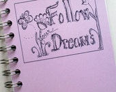 Personalized Journal  Follow Your Dreams Custom LINED Journal Choose Cover Color