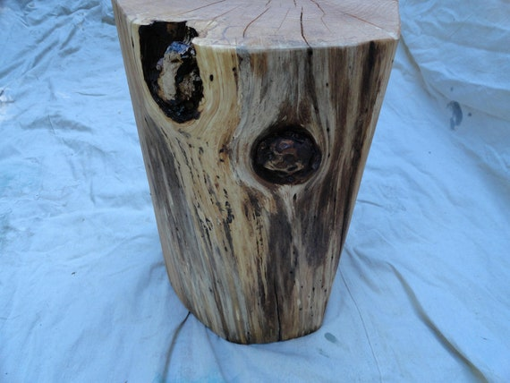 Rustic Solid Log Stump table