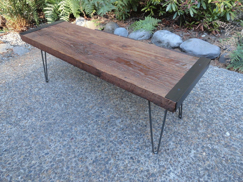 4 Ft Industrial Outdoor Entryway Benches From Reclaimed Barn