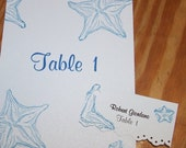 Table Cards, Place Cards & Seating Chart - Custom Made to any theme
