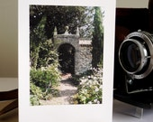 Architectural Greetings Card: Cambridge, Magdalene college, gate to the Master's garden