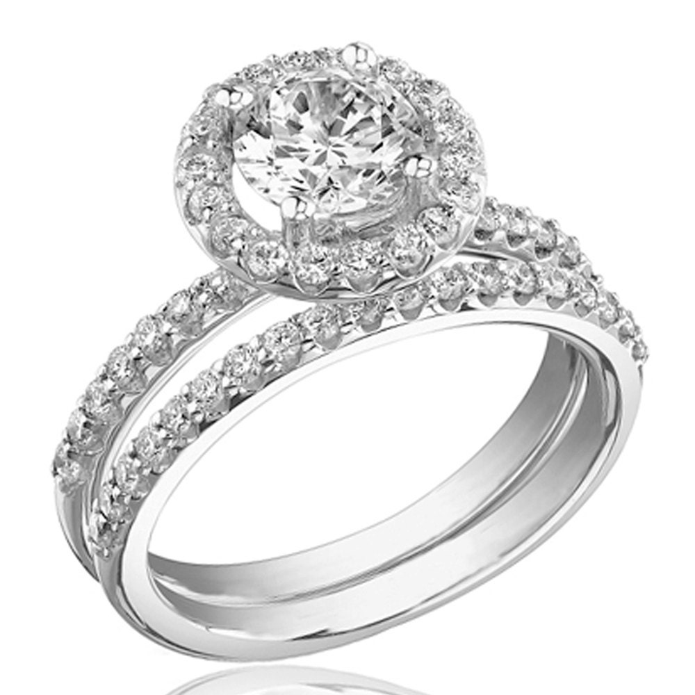 Wedding rings sets white gold wedding ideas for Wedding ring sets white gold