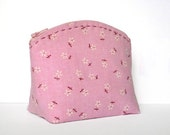 Little Pink Flower - Cosmetic Zipper Pouch