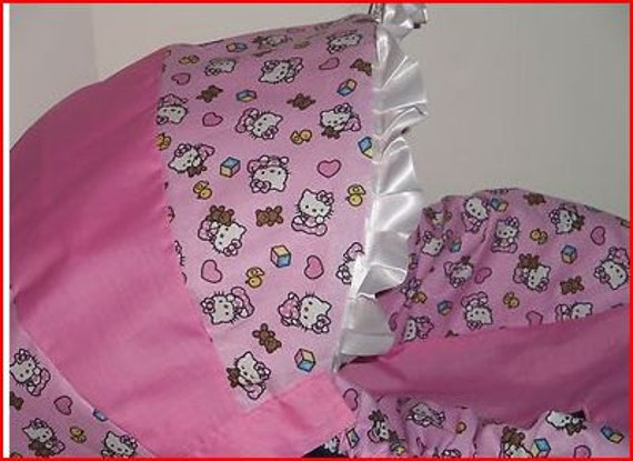 Hello Kitty Pink Baby Car Seat Cover Infant By Pinkbanditbaby2