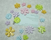 Pastel Floral buttons or findings Set of 20, Flower buttons, Easter buttons, Valentines buttons by MarlenesAttic