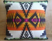Pendleton Wool Fabric Pillow - Native Geometric Tribal