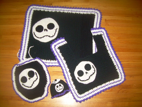 Jack Skellington Nightmare Before Christmas 4pc By Therugmaker