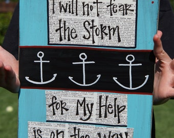 I will not fear the storm anchor handmade card gift