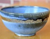 Salt Fired Blue Bowl