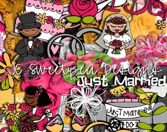 Just Married Digital Scrapbooking Kit