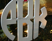 Small Wooden Monogram-Perfect for Gift Topper, Christmas Stocking, Hostess Gift, Bridal Party