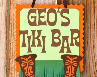 Luau Tiki Sign