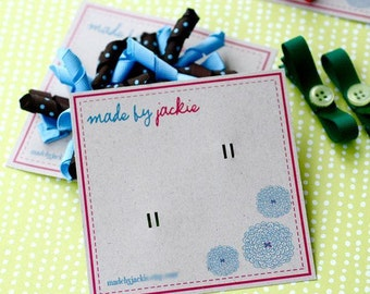 Custom Boutique Hair Bow or Clip Cards - Small Quantities