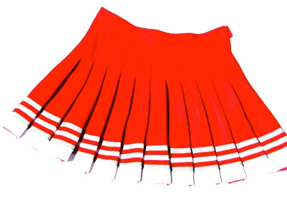 Cheerleader Skirt Red and White Mini