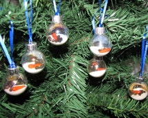 Set of 6 Mini Melted Snowman Ornaments