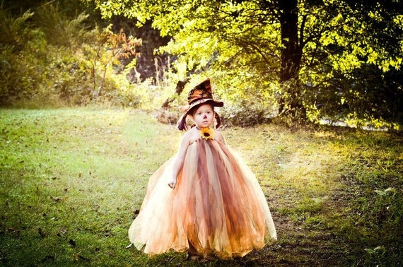 Get by Halloween!! Sun Flower Scarecrow Halloween Tutu Dress Newborn-3t Photography Prop