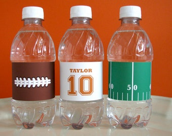 Football Printable - Football water bottle labels - Football Birthday - printable party - Sports Birthday - tailgate - Football Watch Party