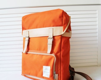 GJ426 Colorful Big Backpack (Orange)