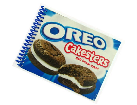 OREO CAKESTERS packaging recycled spiral bound journal notebook
