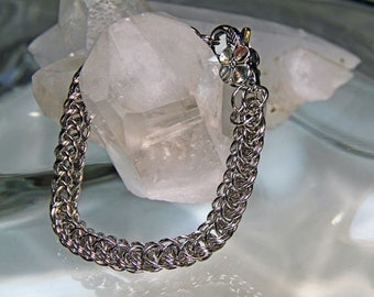 Full Persian Sterling Chainmaille Bracelet