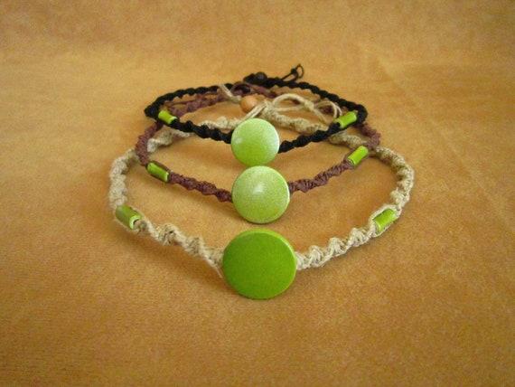 Avatar Neytiri inspired handmade hemp choker necklace with beads