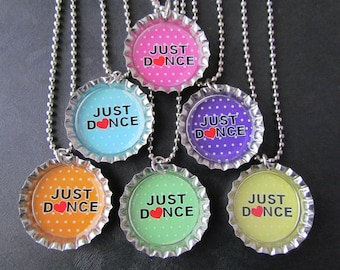 Just Dance  Bottle Cap Party favors (6)  add on more for 2 dollars each