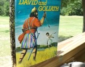 Vintage Little Golden Book David and Goliath