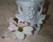 Shabby Chic Vase Small White