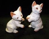 Vintage White Kittens Terra Cotta Kittens Pottery Kittens