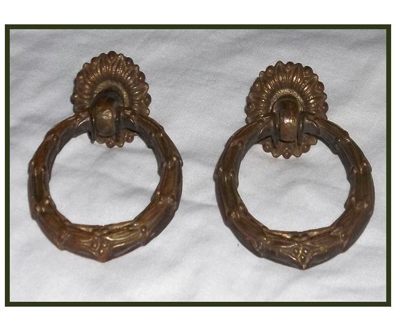 Vintage Brass Drawer Pulls