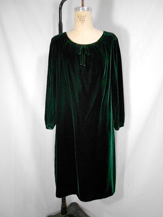 1960s Velvet Dress Size 18