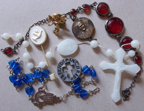 Destash--Religious Items--lot of 7 items for Creating Jewelry and Assemblages