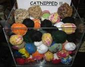 4 CAT and KITTEN CATNIPPED 'Toy Balls' Sized From 2 In'-5 In. One Day Shipping..Each is Fresh Catnip Filled