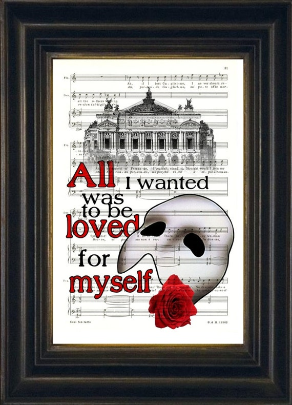 Phantom of the opera paris opera house quote on upcycled 1920 s