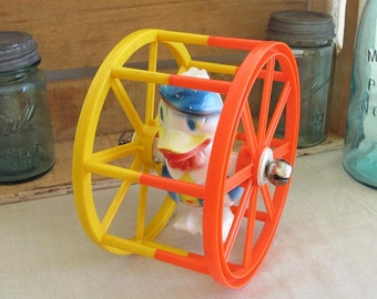 Donald Duck Vintage Rolling Children's Disney Toy