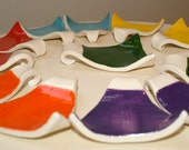 Set of 12 Rainbow colored spoon rests: yellow, turquoise, purple, red, orange, green
