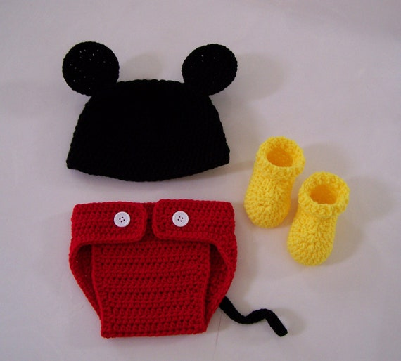 Items similar to Crochet Mickey Mouse Set / Crochet Mickey ...