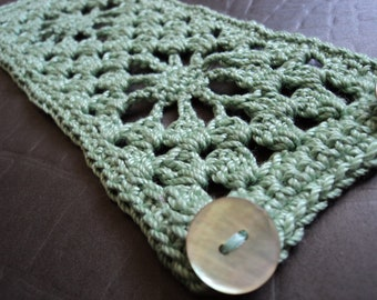 Crocheted Cuff Bracelet in Your Choice of Colors