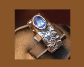 Blue Topaz set in Sterling Silver Ring - Reserved for Marg Fligg