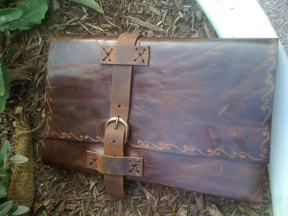 Hand Tooled Leather Journal, Leather Notebook Case, Decorative Journal Case